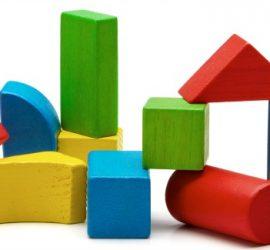 Juguete bloques de madera