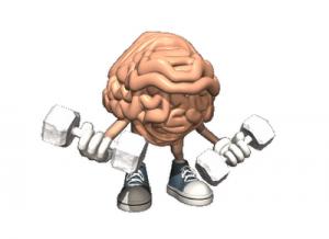 Cerebro haciendo pesas