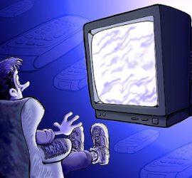 Persona hipnotizada por Televisión