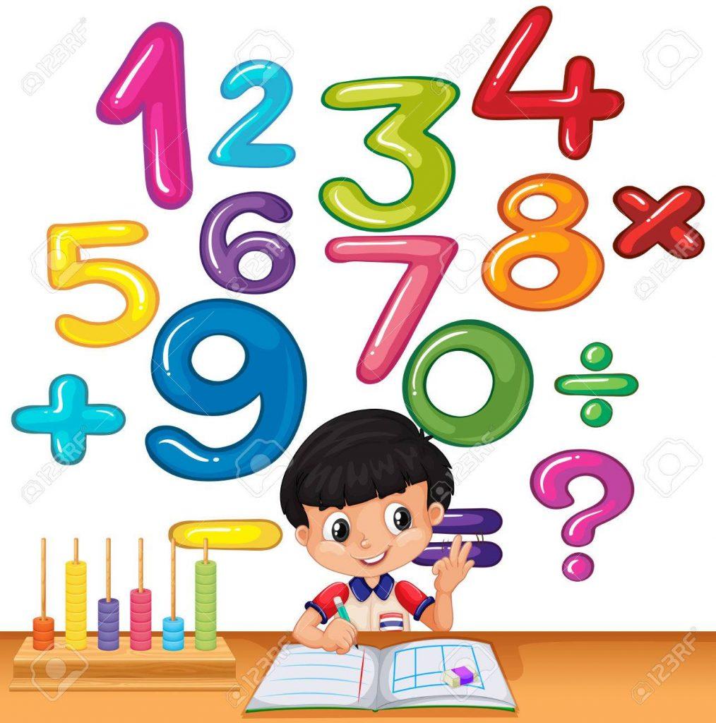 Niño calculando